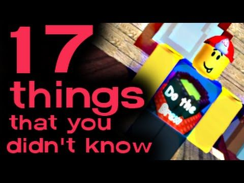 17 Things You Probably Didnt Know About Roblox A Roblox Machinima