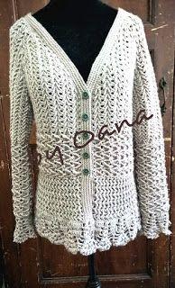 Uncinetto Indossato.Oanacrochet Uncinetto Indossato Crochet To Wear Cardigan Uncinetto Lavoro All Uncinetto