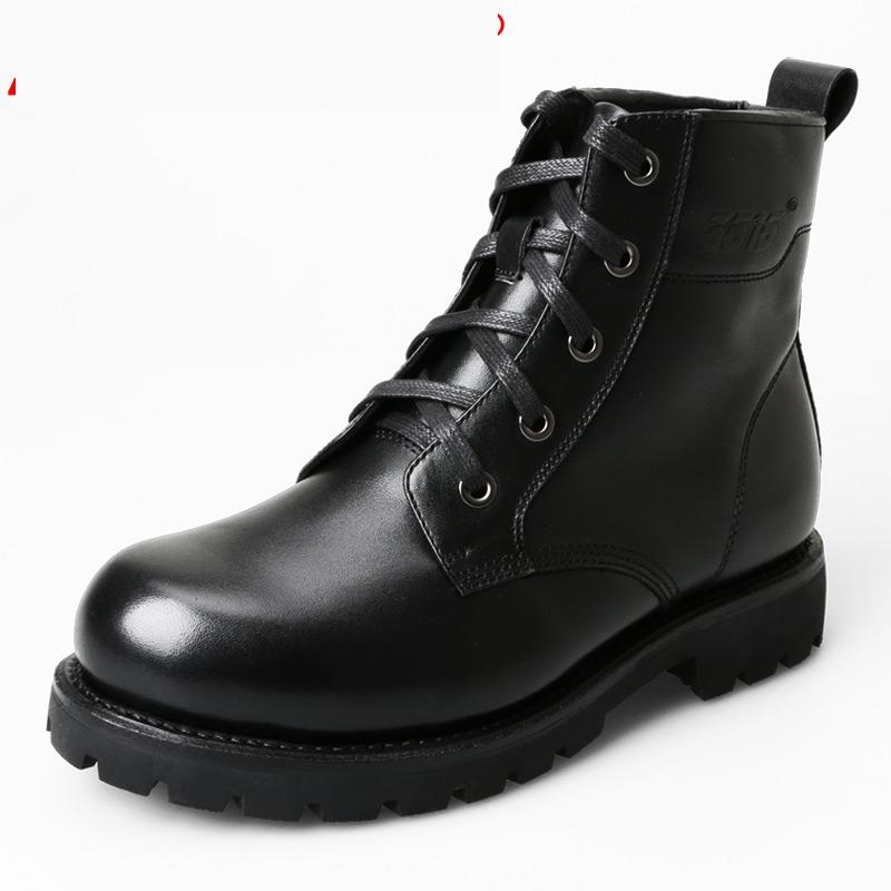 200.99$  Watch here - http://ali6jy.worldwells.pw/go.php?t=32779161577 - Discount Winter Men's Military Tactical Boots  Genuine Leather Snow Boots Style Black Handmade Thermal Waterproof Boots Wool In