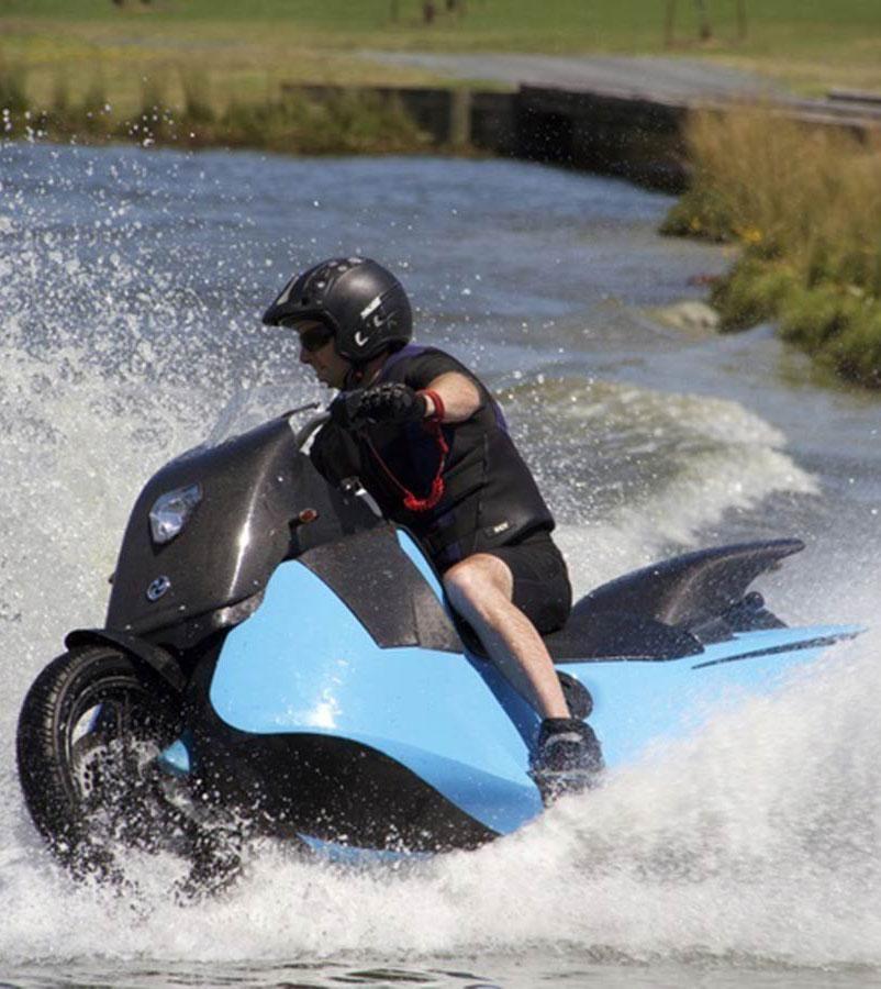 Hayabusa Motorcycle Engine Jet Ski: Gibbs' Biski Is A Motorcycle Jet Ski You Can Ride On Land