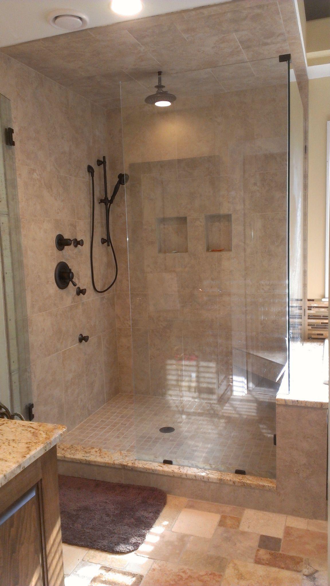 30 Stunning Natural Stone Bathroom Ideas And Pictures Shower Tile Bathroom Tile Diy Tile Remodel