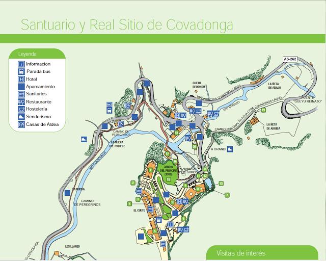 Mapa De Covadonga Covadonga Mapas Santuario