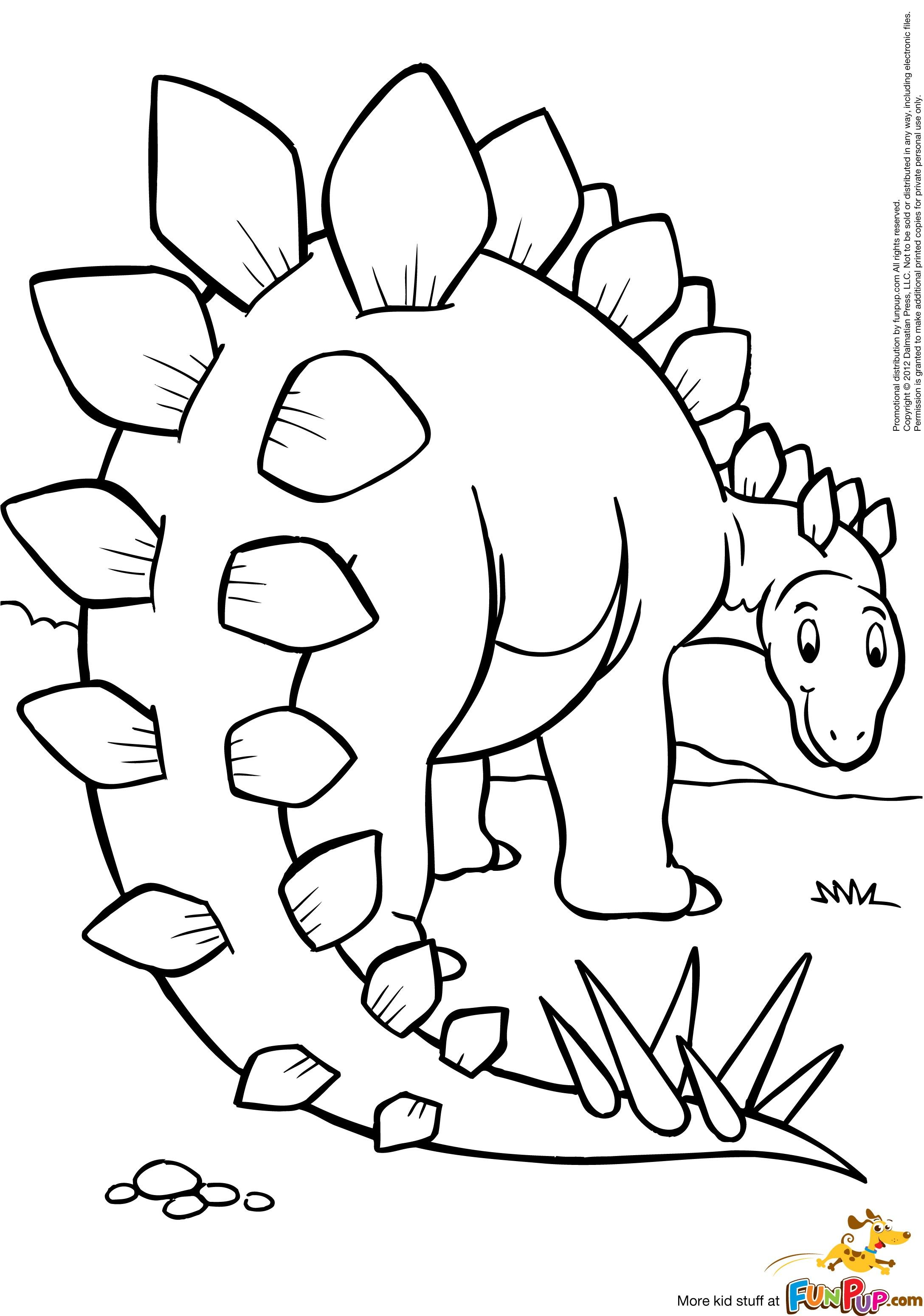 Dinosaur Coloring Pages Stegosaurus Trend
