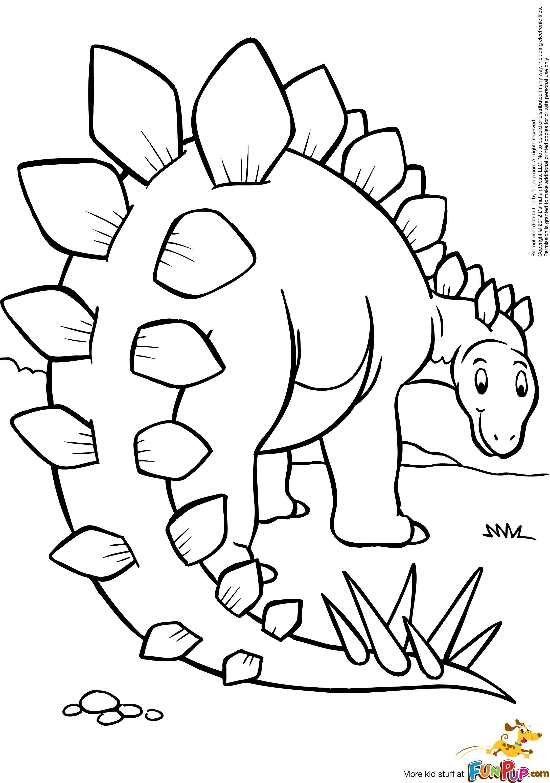 Stegosaurus 0 00 Dinosaurios Animados Dibujos Pintar Con Ninos