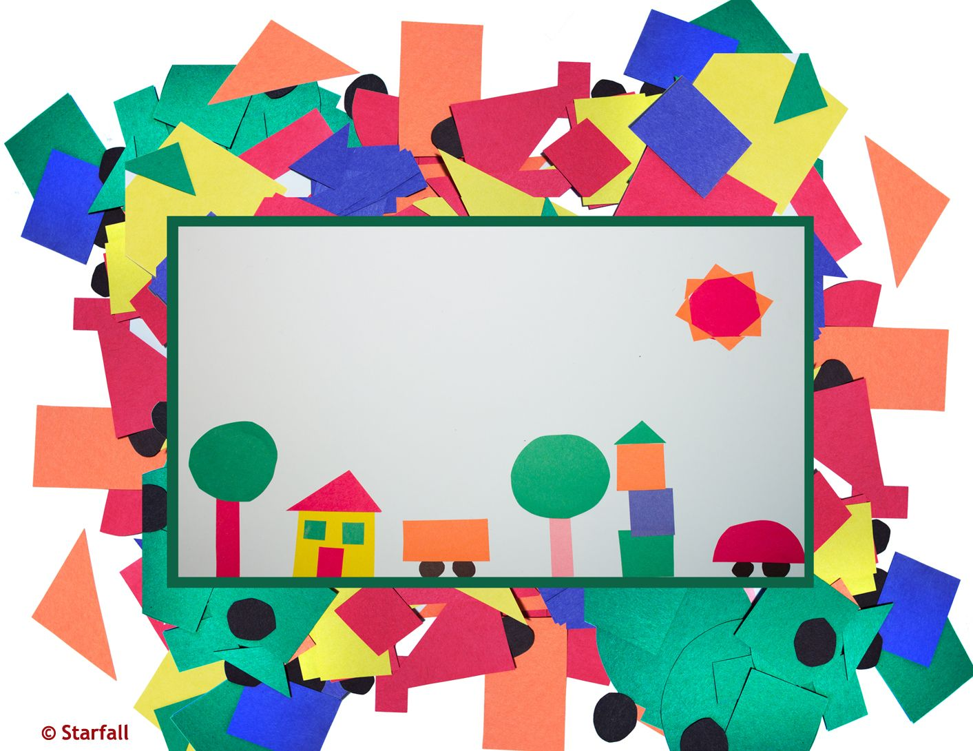 Make A Picture With Geometric Shapes Circle Square