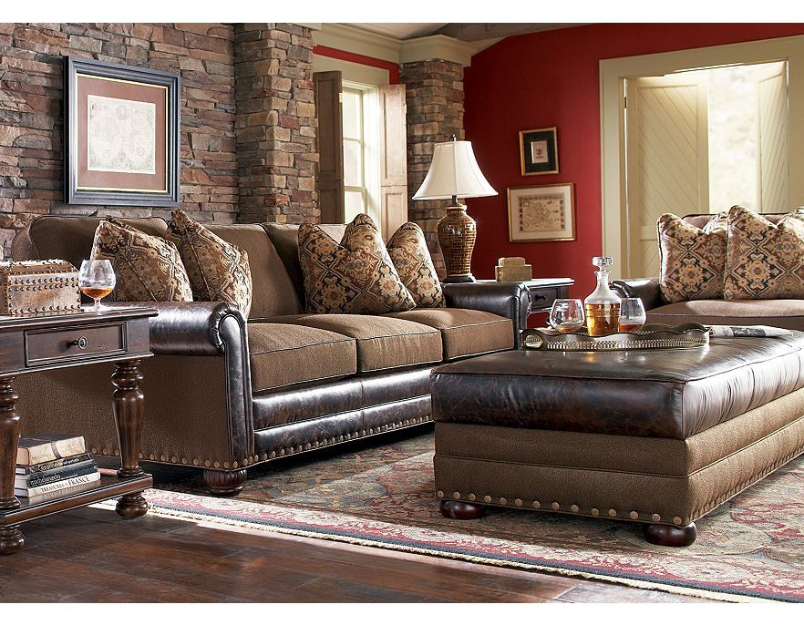 Possible Living Room Furniture Havertys Landon I Like The Leather Fabric Mix
