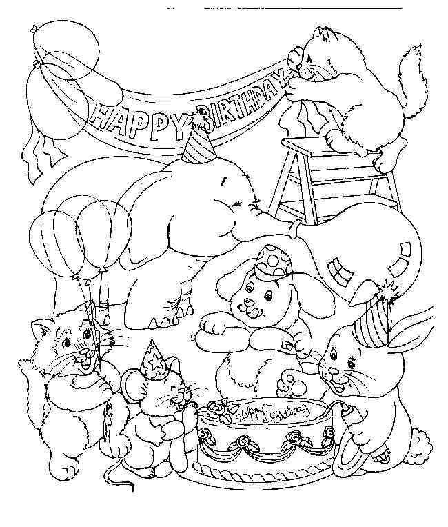 Geburtstag 39 Ausmalbilder Resimler Birthday Coloring