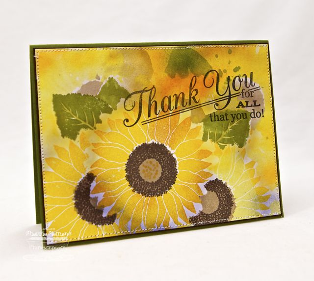 Splendid Sunflower; Grand Greetings; Collage Backgrounds; Splendid Sunflower Die-namics - Sherrie Siemens