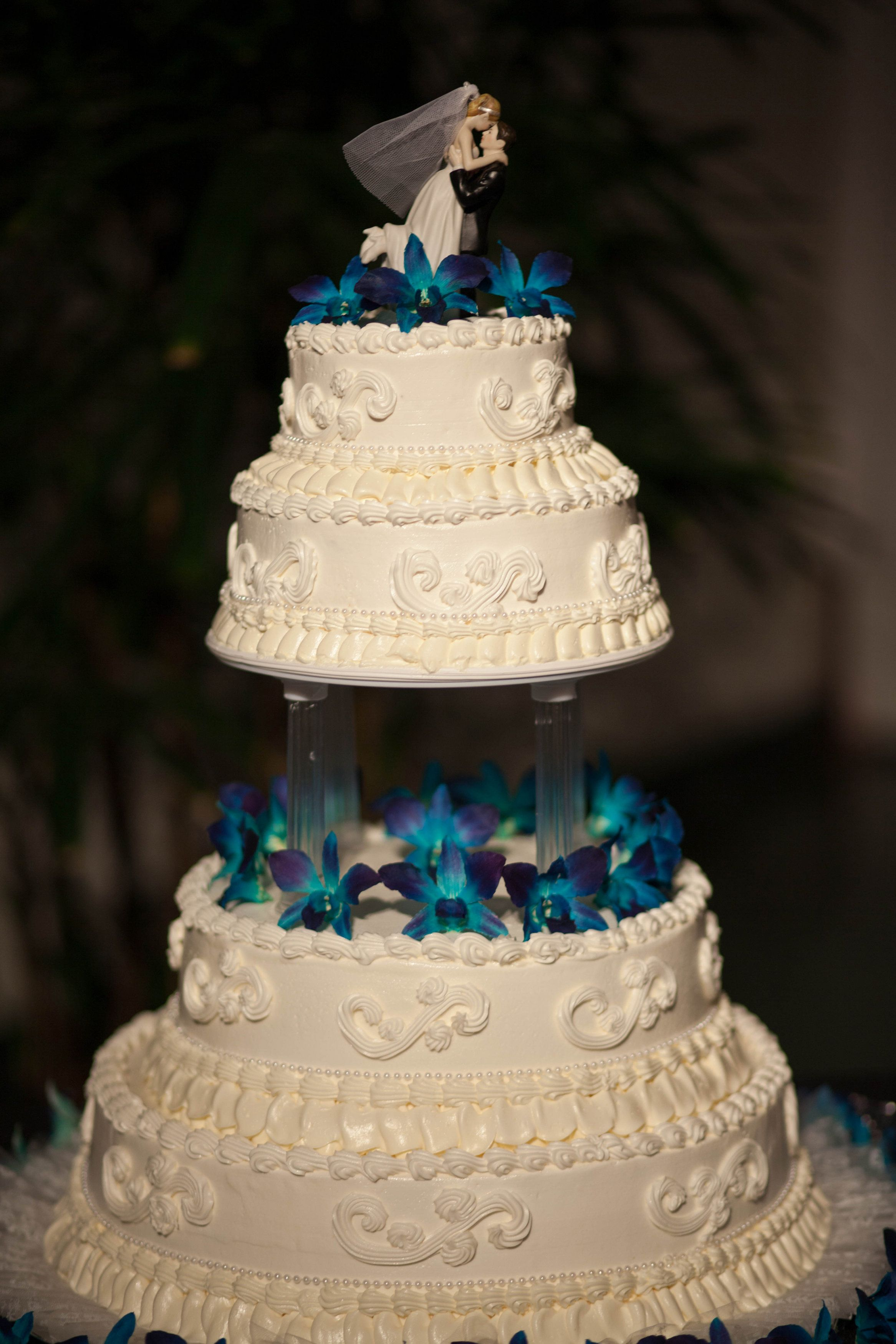 wedding cakes turquoise and purple peacock purple turquoise orchid wedding cake my peacock 25793