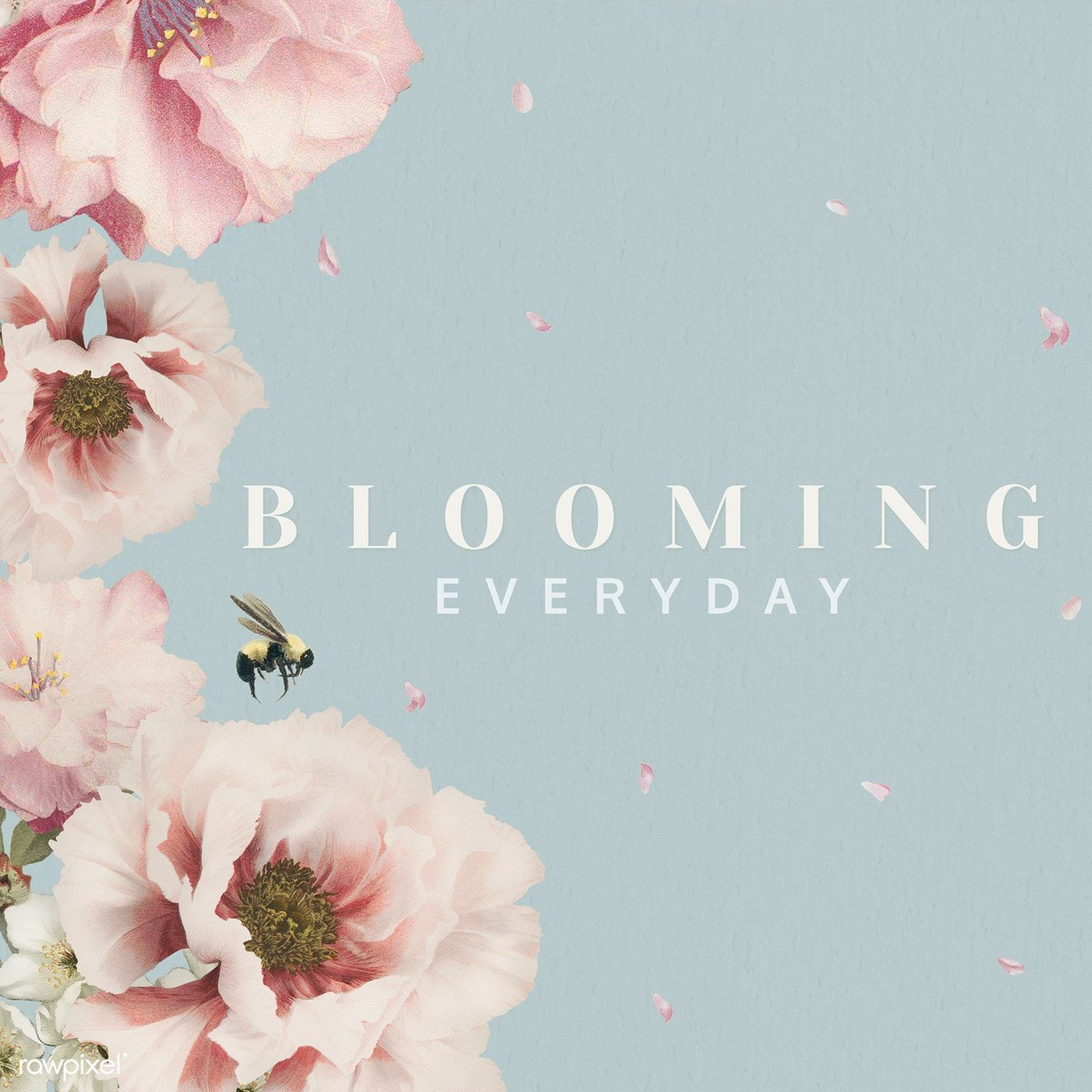Download Premium Illustration Of Blooming Everyday Card Design Card Design Everyday Card Flower Illustration