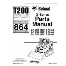 Bobcat T200 Turbo 864 G-Series Parts Manual PDF