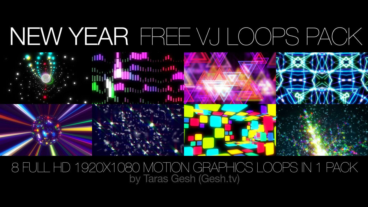 "VJLoops Artist ""Taras Gesh"" is giving away a free pack of"
