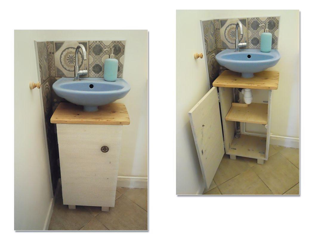 Petit Meuble Sous Vasque Pour Habiller La Tuyauterie Du Lave Mains