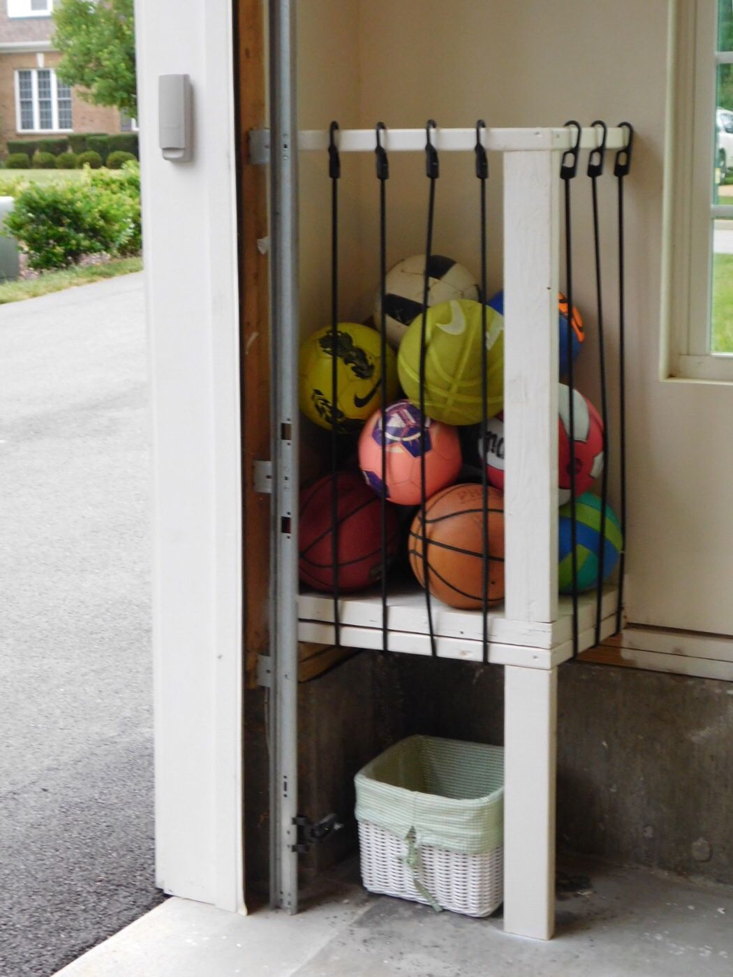 storage ball in conjunction sports size with of large lockers also diy garage