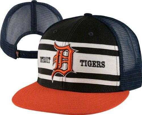 fafd9d62a11 Detroit Tigers Navy  47 Brand Retro Stripe Adjustable Snapback Hat by  47  Brand.