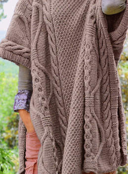 Cable throw   Poncho knitting patterns, Knitted poncho ...