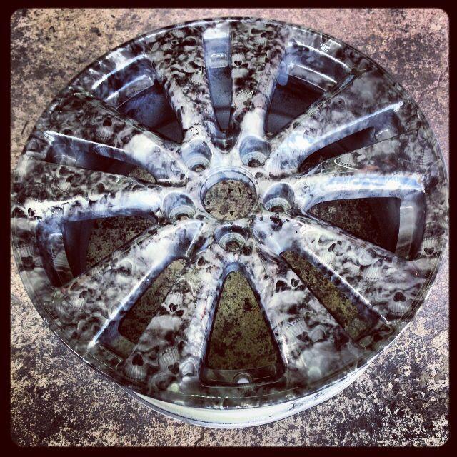 Wheel Hydro Dipped Hydrographics Pinterest Hydro