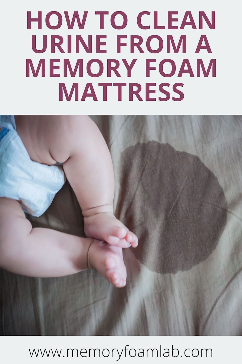 How to clean urine from a memory foam mattress memory