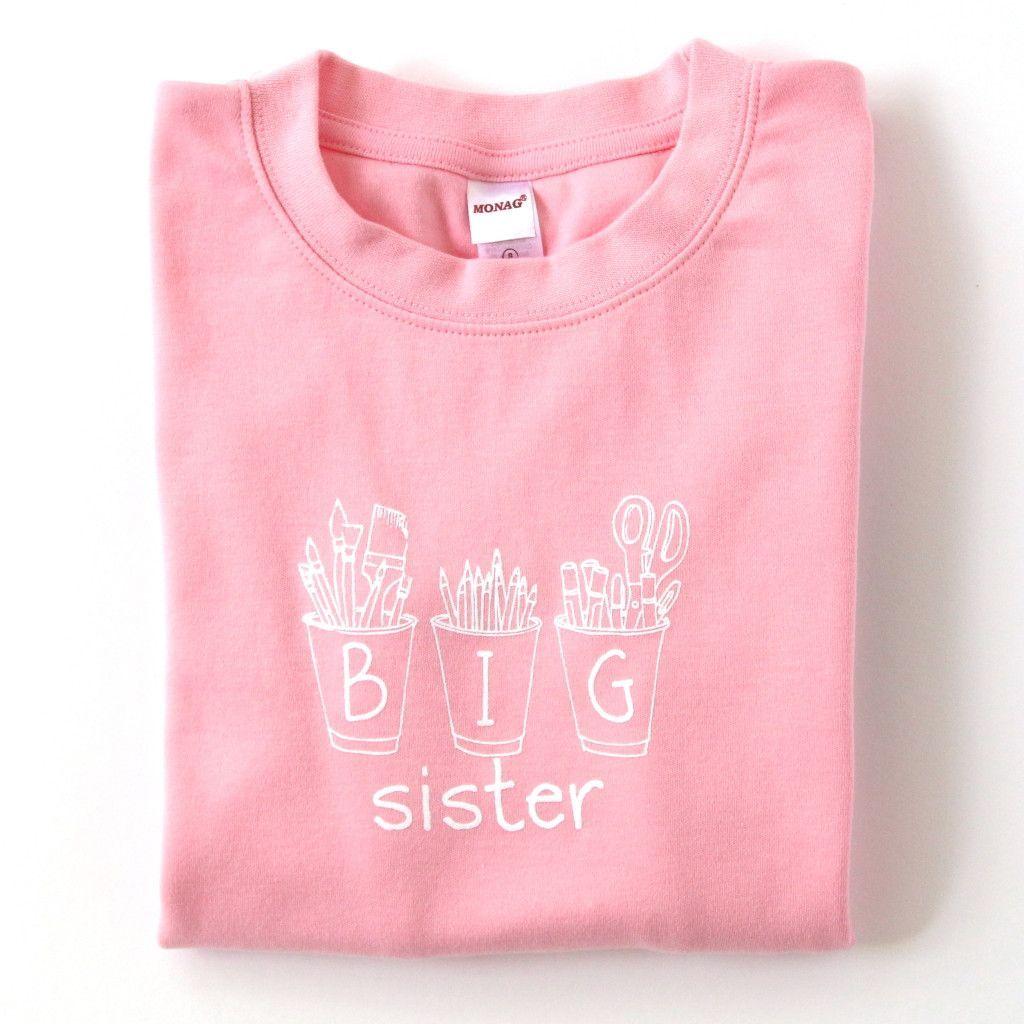 Big Sister Art Cups Long Sleeve Tee