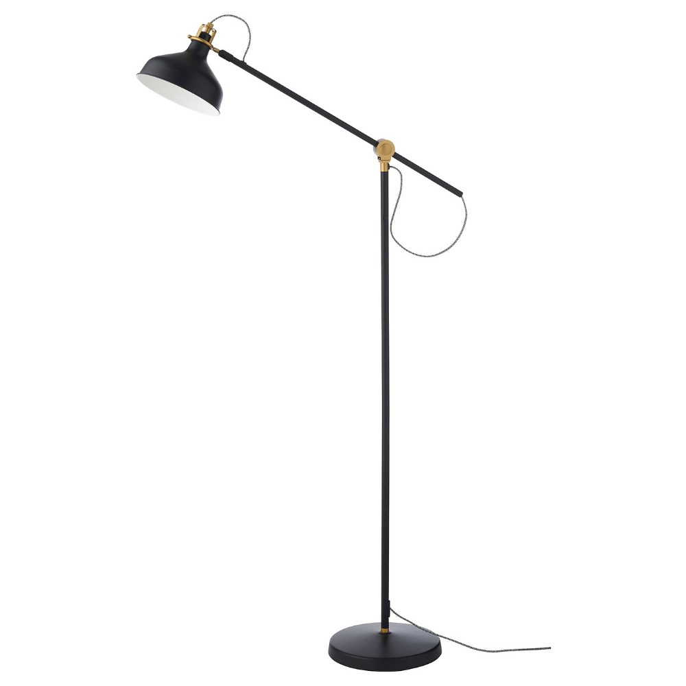 RANARP Floor/reading lamp with LED bulb black in 2020