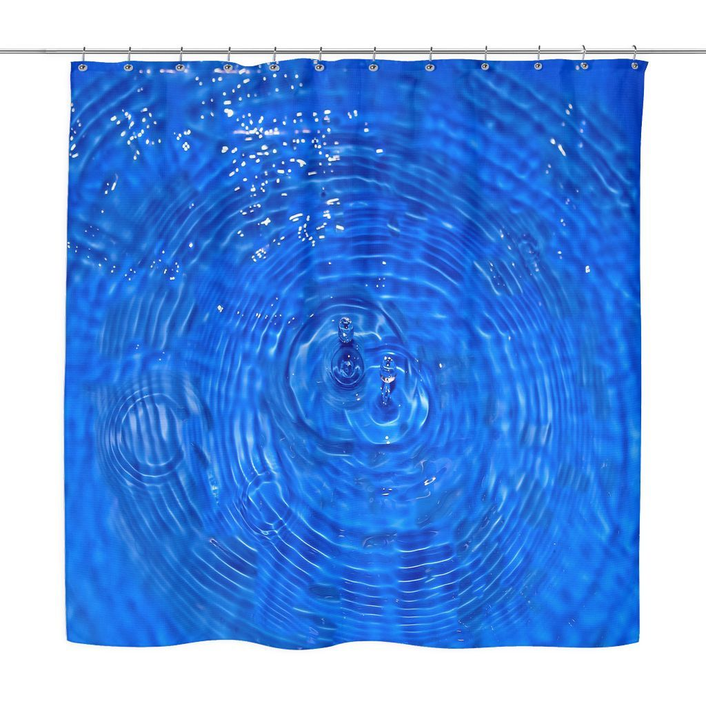 Ripples Of Water Shower Curtain