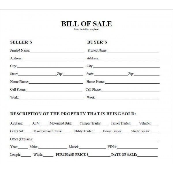 printable car bill of sale pdf bill of sale west atv projects to try