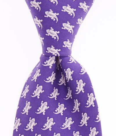 c0c6085a195b Men's Ties: TCU Printed Silk Tie for Men – Vineyard Vines ...