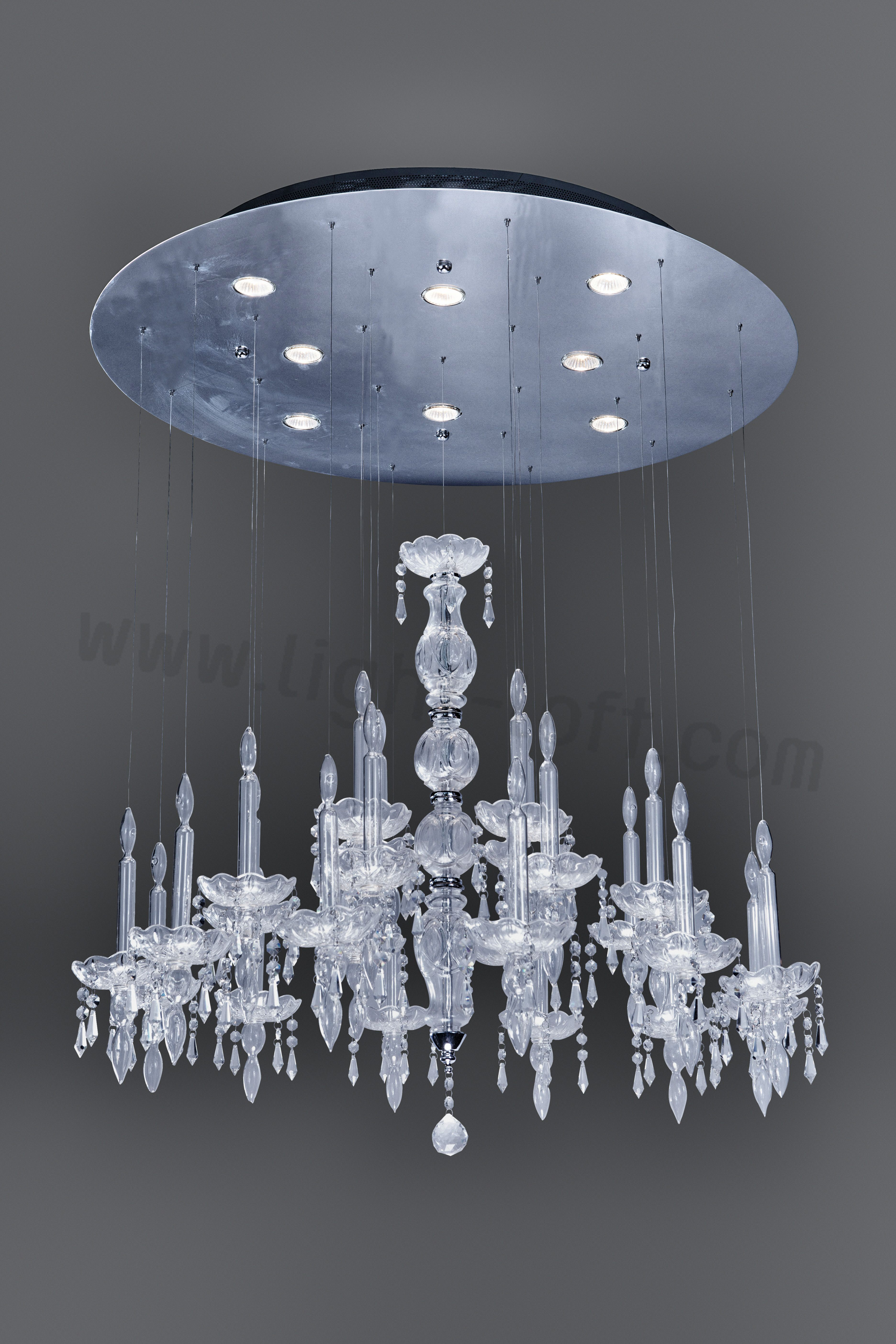 If you prefer classical lighting fixtures chandeliers but still like to stay up to