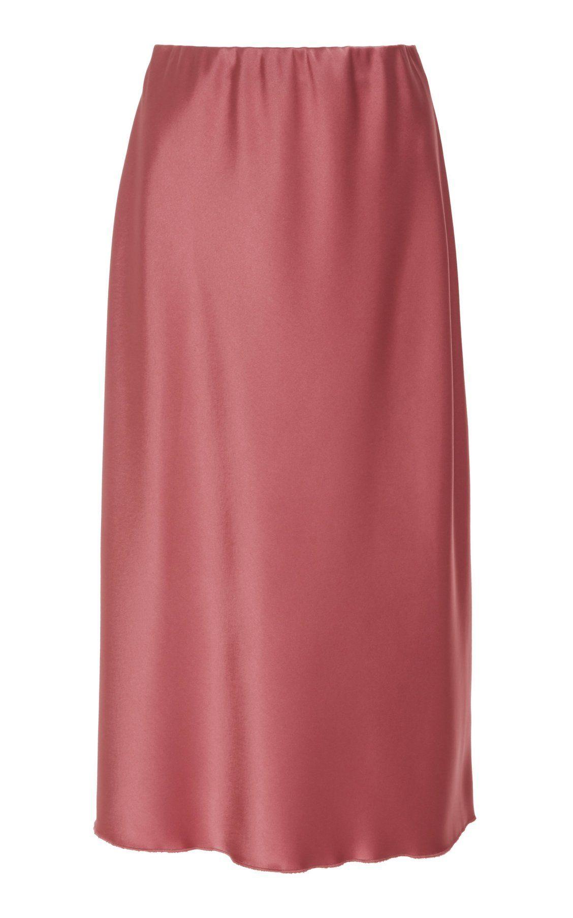 859e1486b8 Zarina High Waisted Satin Midi Skirt by Nanushka PF19 | Moda Operandi