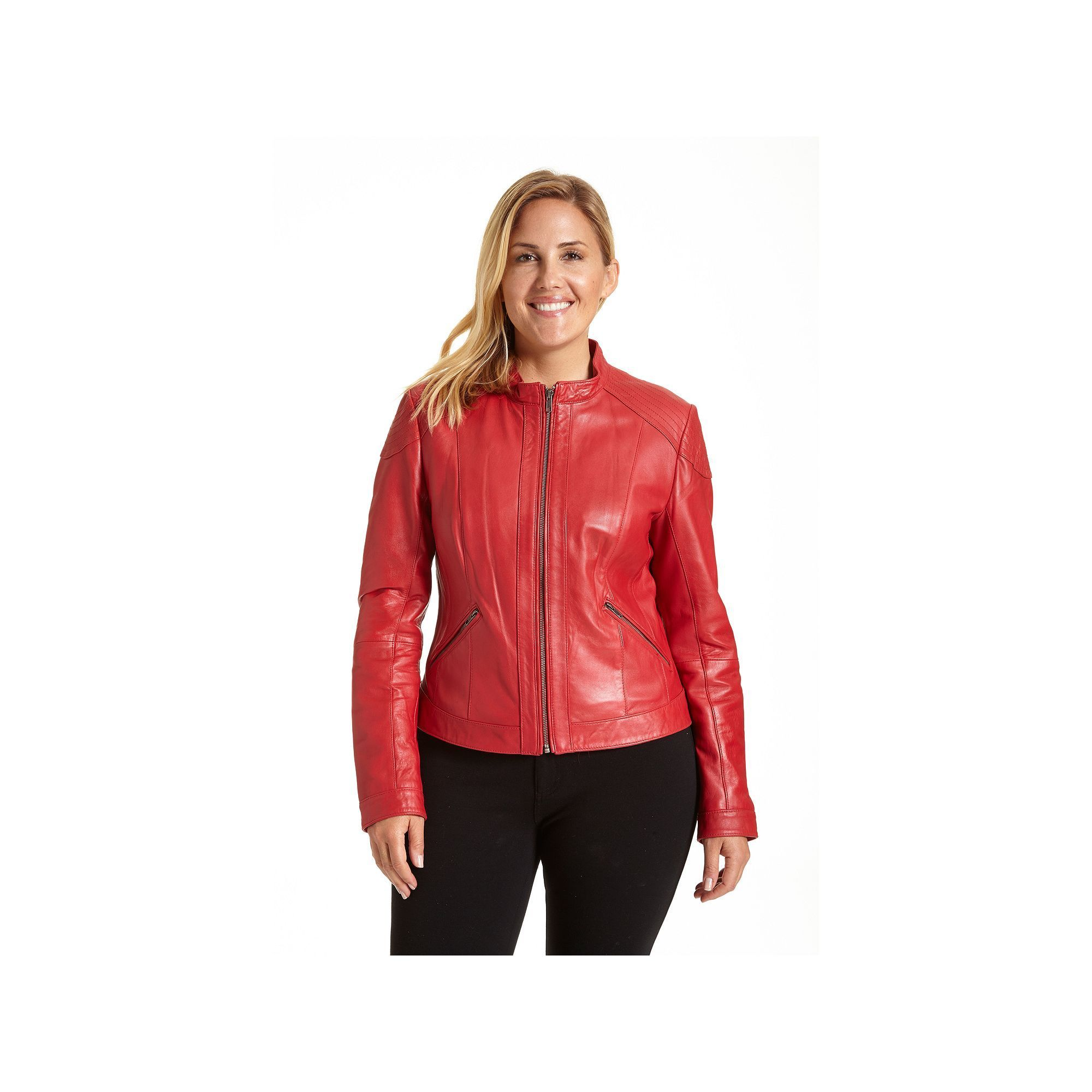 Plus Size Excelled Leather Motorcycle Jacket, Women's, Size: 2XL, ...