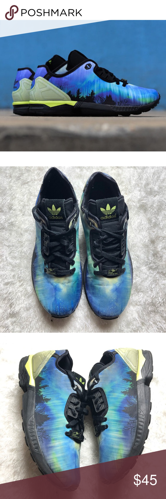 los angeles 55c32 bb19d Adidas ZX Flux Decon Northern Lights Sneakers Adidas Torsion ZX Flux Decon  Northern Lights. AQ7507. Size 10.5. Good condition. Sneakers have some  minor ...