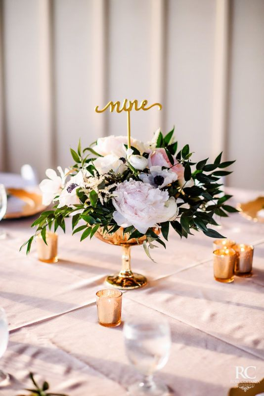 Compote Centerpiece Gold Compote Centerpiece Classic Wedding