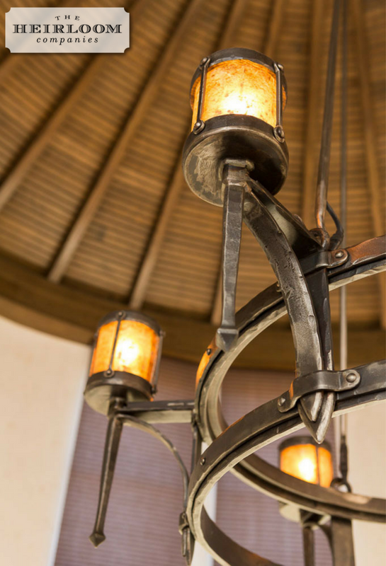 Forged Fabricated Steel Chandelier The Heirloom
