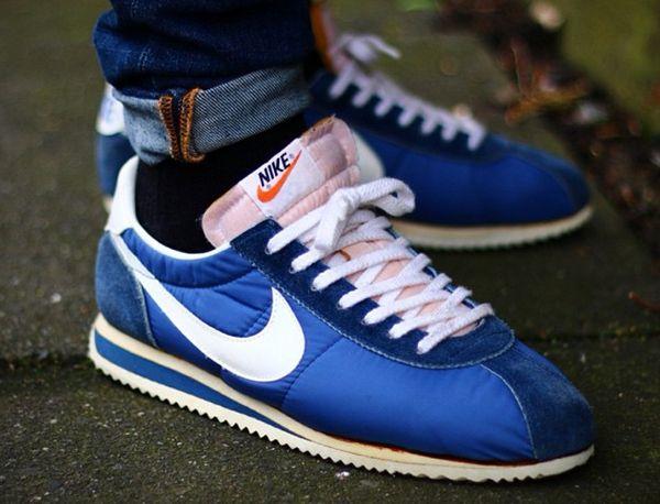 Nike Cortez BlueYellow; Nike-Cortez-Nylon-Vintage-Made-in-Japan-Blue