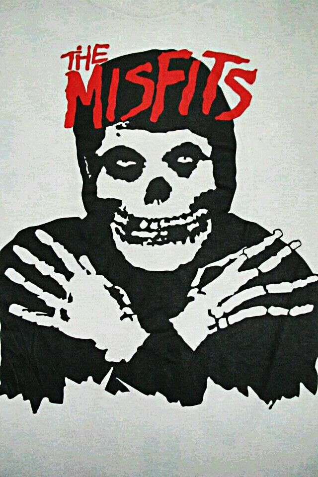 Misfits Misfits Wallpaper Horror Punk Album Art