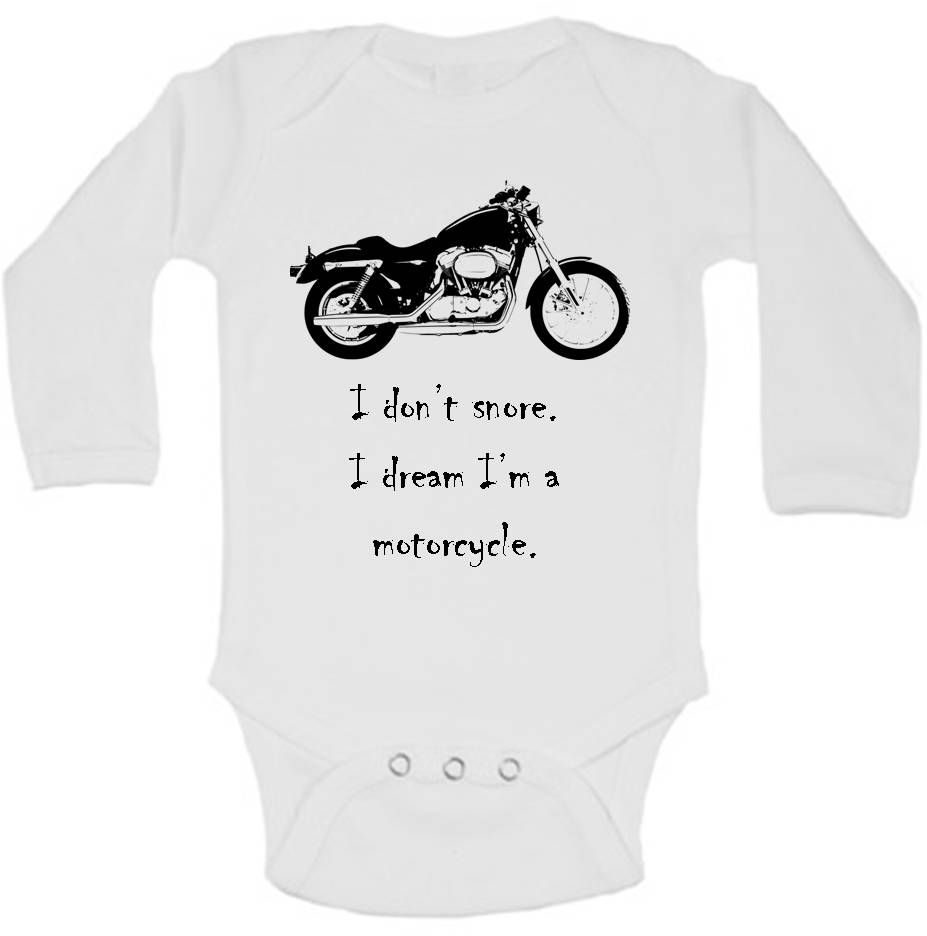 Motorcycle Baby Shirt Biker Baby Clothes Motorcycle Baby Shower
