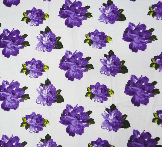 Print Floral Color White Transparency Non Transparent Width 41 InchesApprox Perfect For Quilting