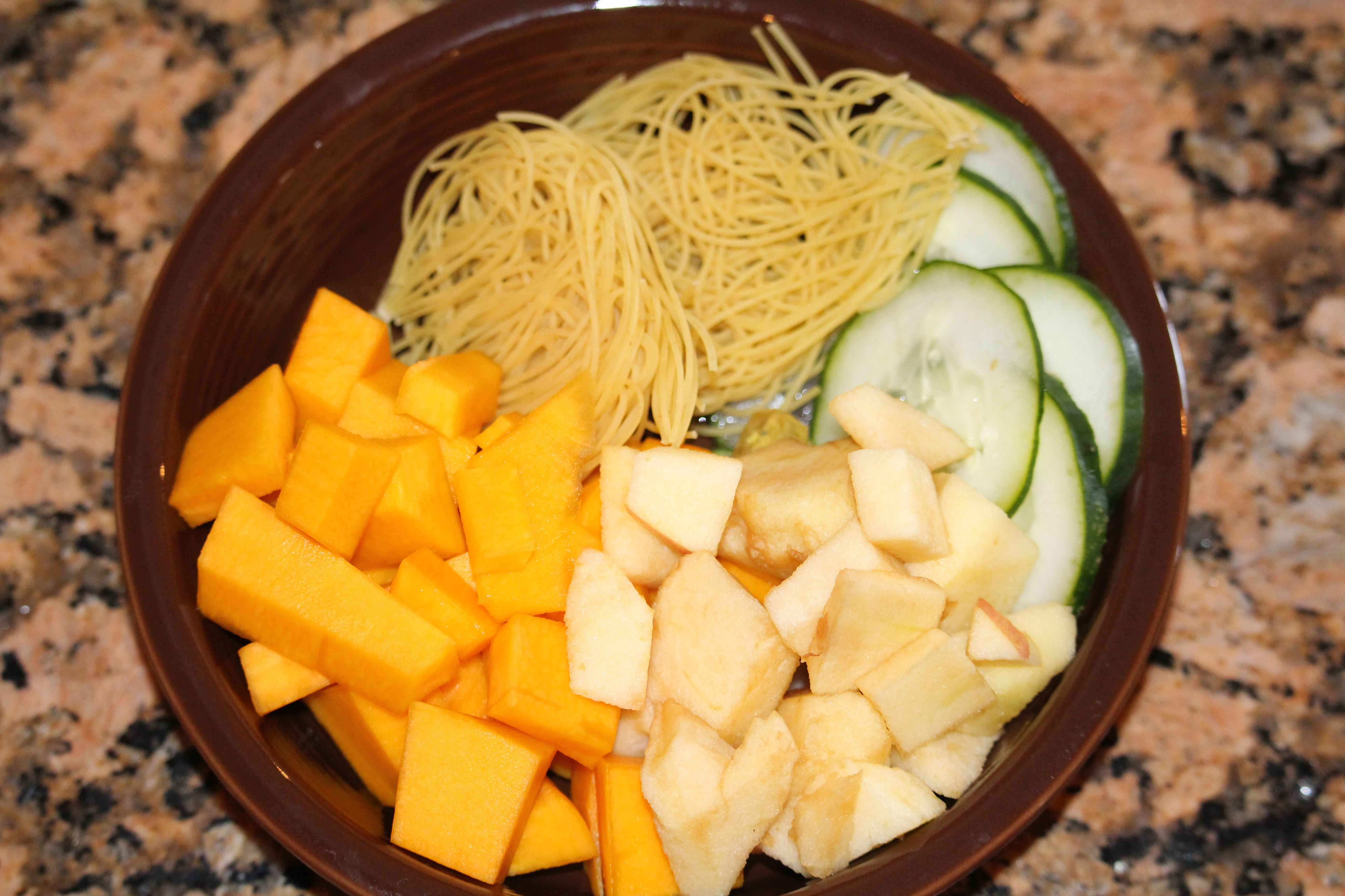Pumpkin soup with apples and cucumber baby food baby