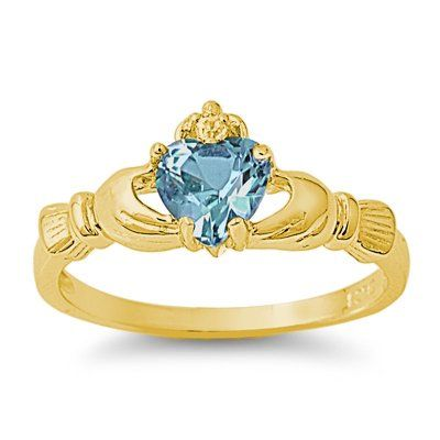 9MM 2ctw 18k-Gold Plated Sterling Silver DECEMBER BLUE TOPAZ... - http://bit.ly/1IOq22f