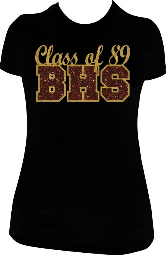 Class Of 89 Glitter Vinyl Tshirt By Mpshinedesigns On Etsy 23 00