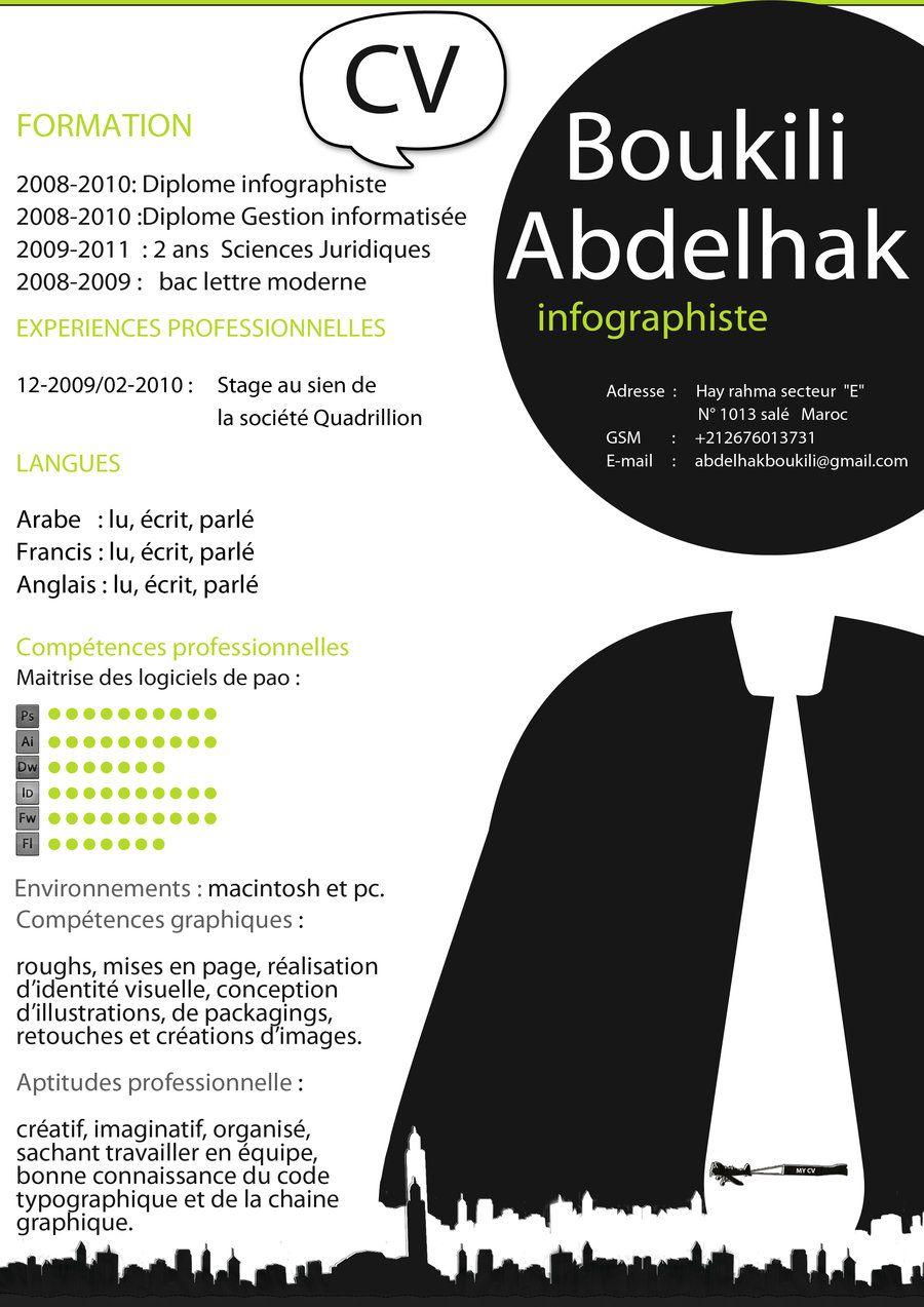 Resume By Abdelhakboukili On Deviantart Graphic Resume Creative Cv Infographic Resume