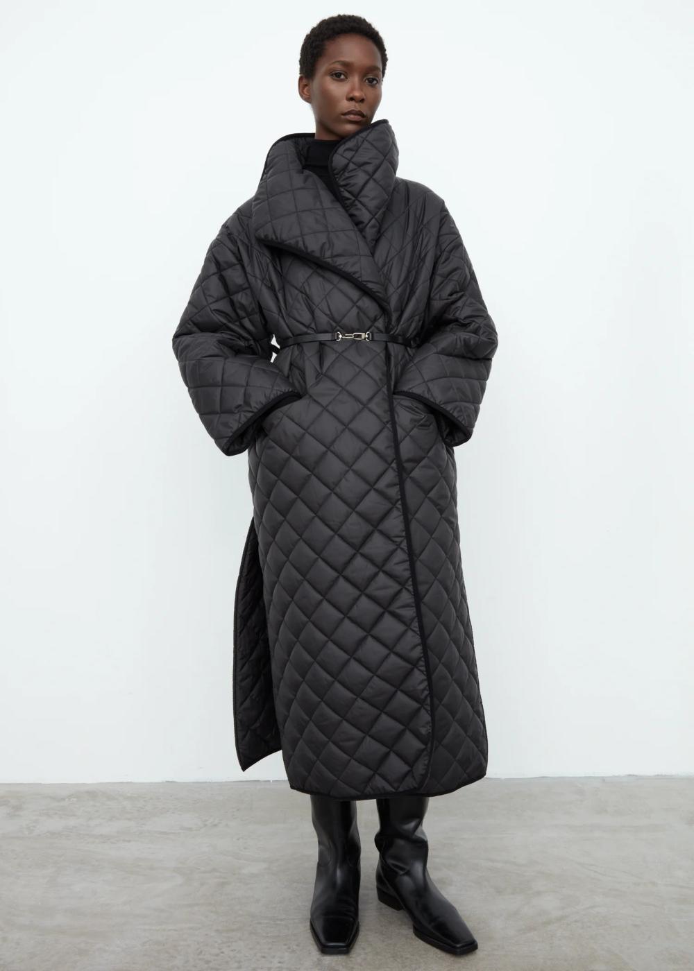 Annecy Quilted Coat Quilted Coat Quilted Coat Outfit Long Quilted Coat [ 1400 x 1000 Pixel ]