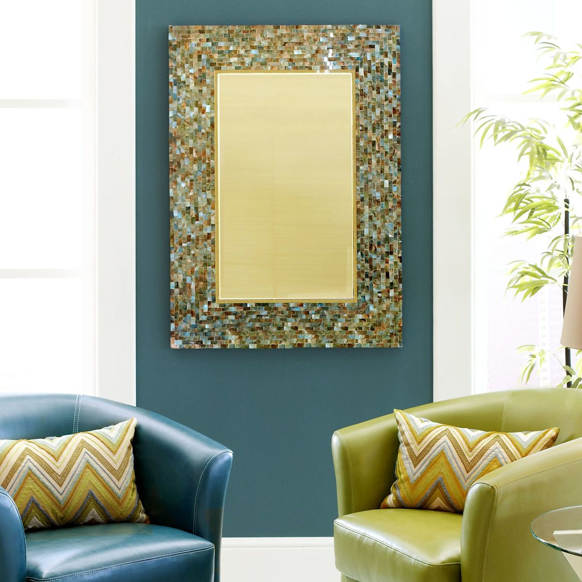 Ocean Mosaic Mirror | Pier 1 Imports | Indochine Decor | Pinterest ...