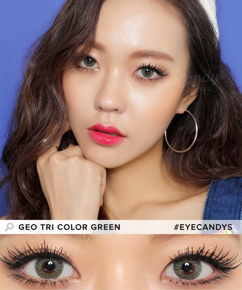 GEO Tri Color colored contact lenses - these work ...