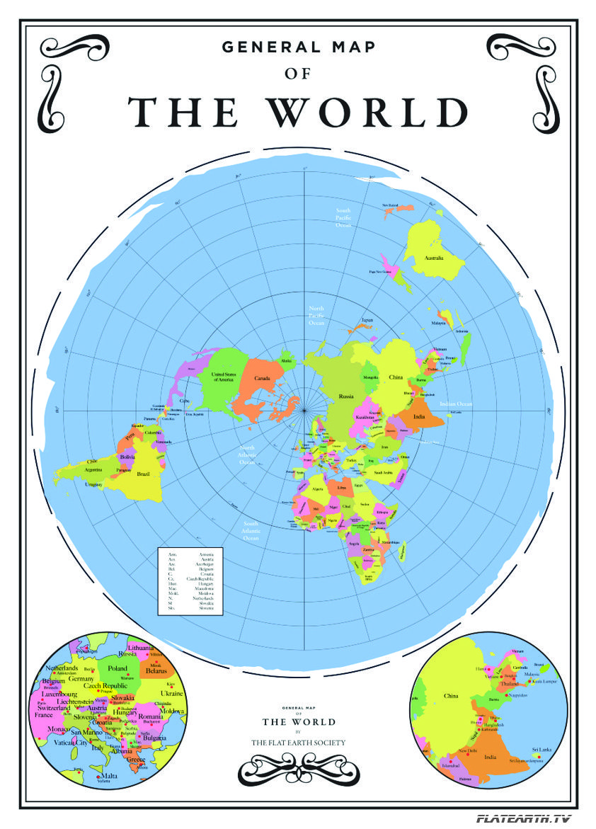 General Map of the World (Flat Earth) | flat earth | Flat earth
