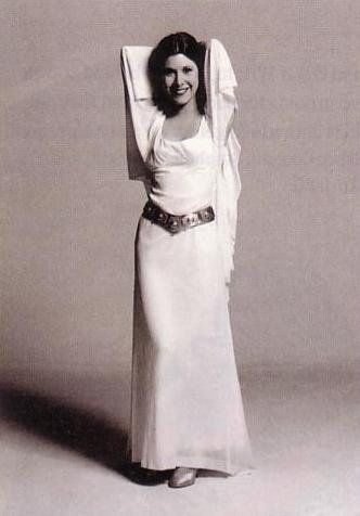 Carrie Fisher Princess Leia White Dress