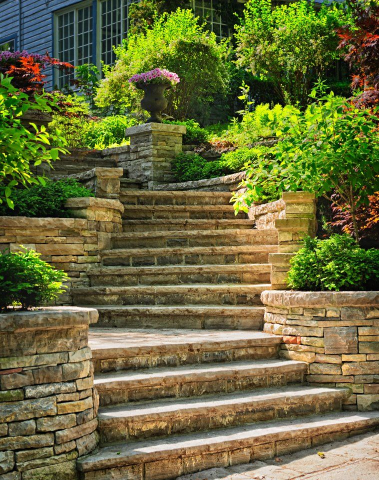 escalier jardin extérieur | ARTE Y JARDINERÍA DISEÑO DE JARDINES: ELEMENTOS DEL JARDÍN