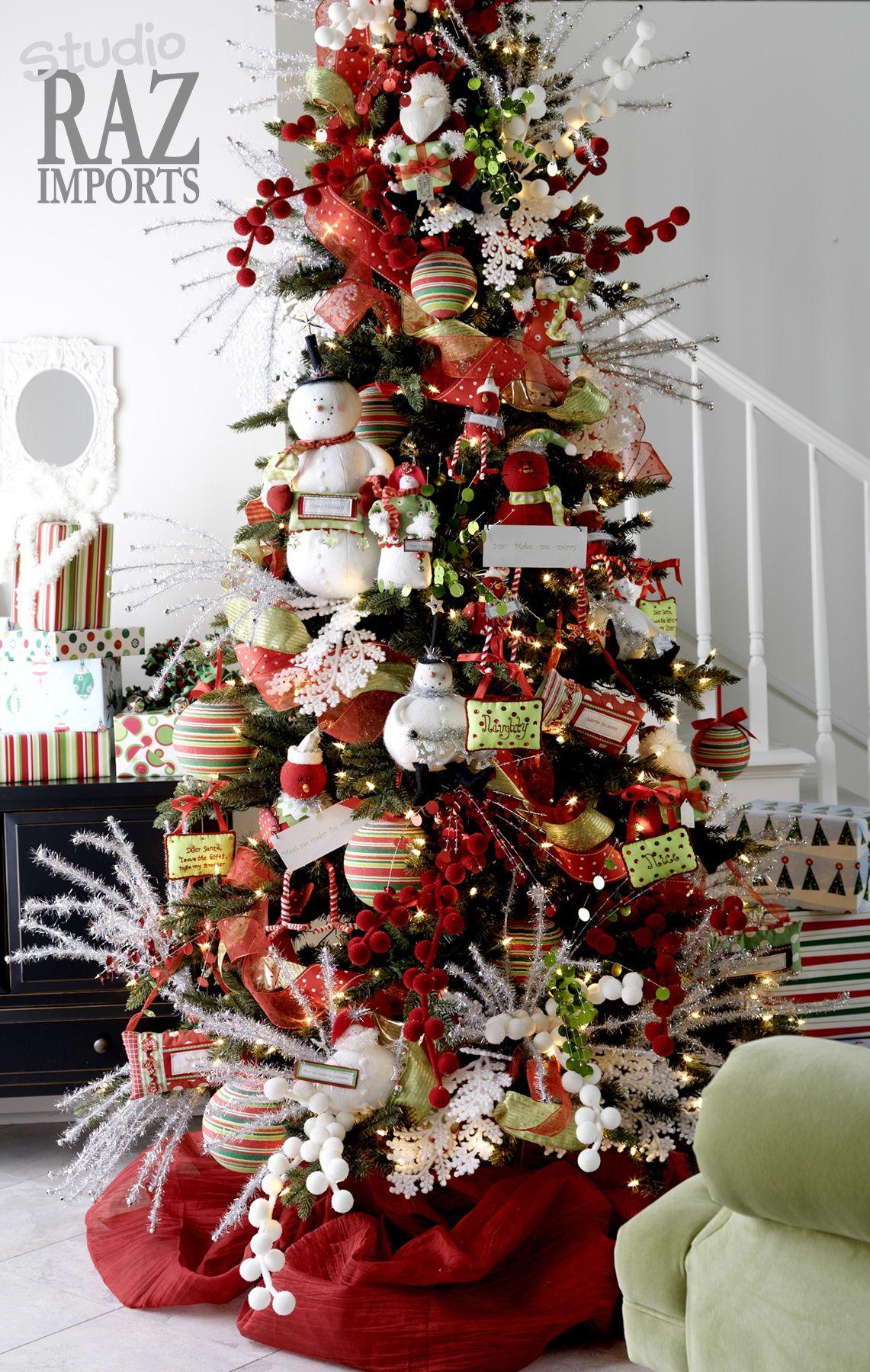 Rbol de navidad 60 ideas preciosas para decorar pinos - Decoracion arboles navidenos ...