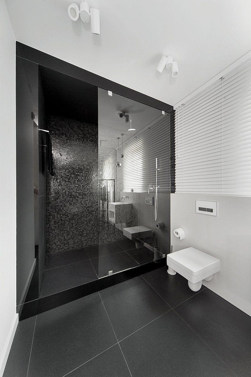 10 Idées Déco Salles de Bain Noir et Blanc Contemporaines | Douche ...