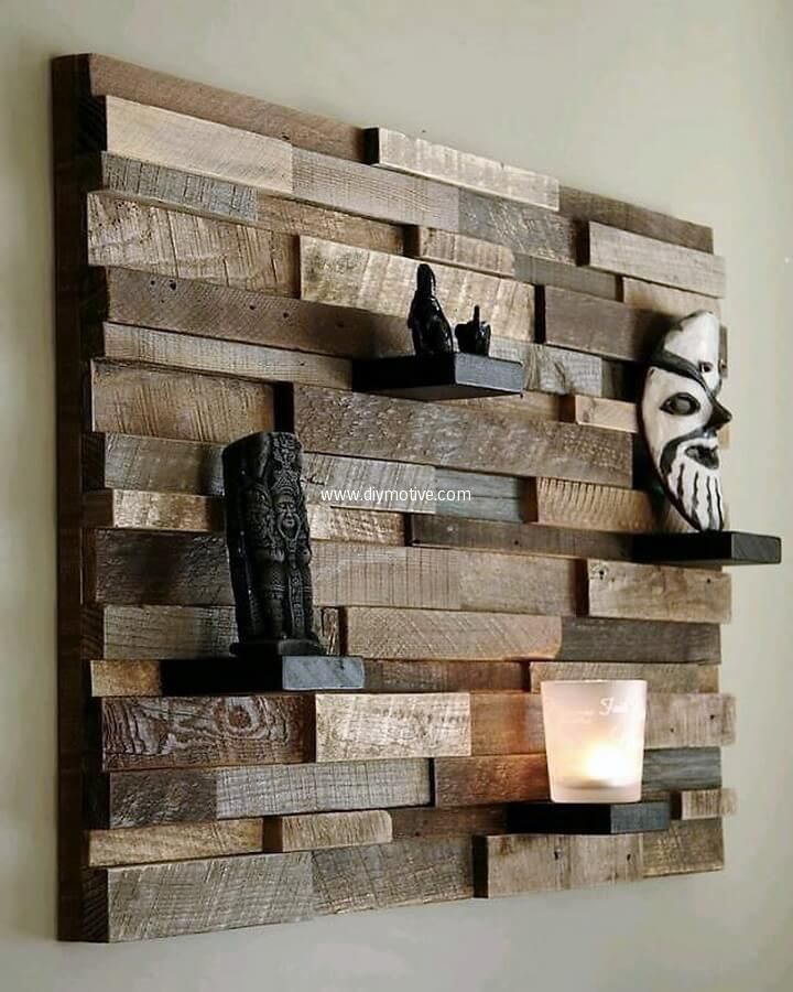 DIY Creative Ideas for Pallet Wood Recycling  Reclaimed wood wall